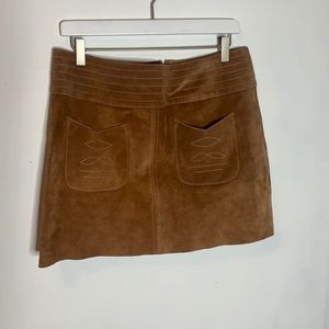 Free People Suede Miniskirt, size 12